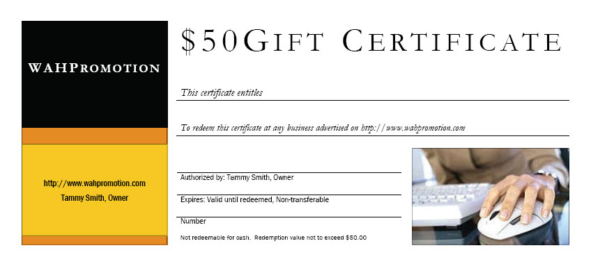 Doc.#508271: Sample Gift Card – gift certificate sample Template ...