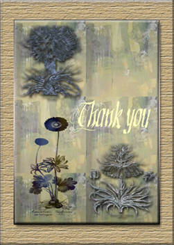 Earthly Thanks custom card cover