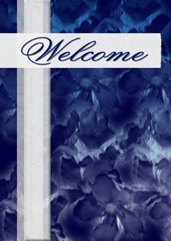 Pansy Petals Welcome custom card cover