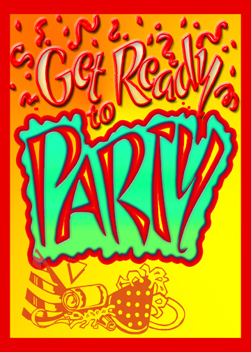 Let's Party card cover