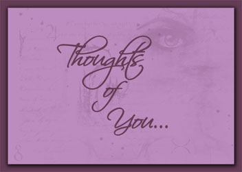 Thoughts of You card cover
