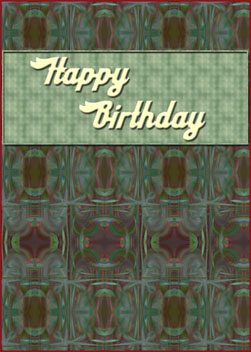 Masculine Birthday card cover